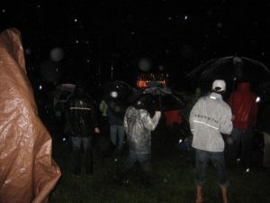 Rain at Radiohead