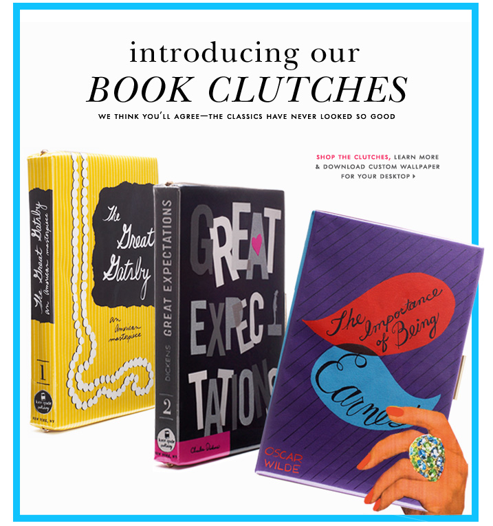 book clutches at Kate Spade