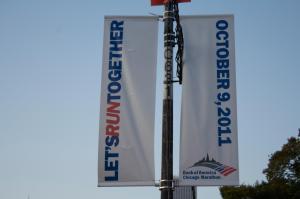 chicago marathon 2011 banner