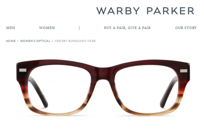 'Crosby Burgundy Fade - Optical - Women I Warby Parker'