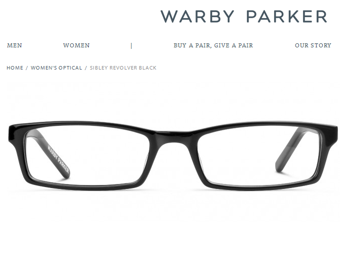 'Sibley Revolver Black - Optical - Women I Warby Parker'