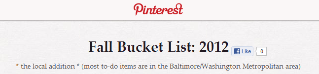fall bucket list 2012