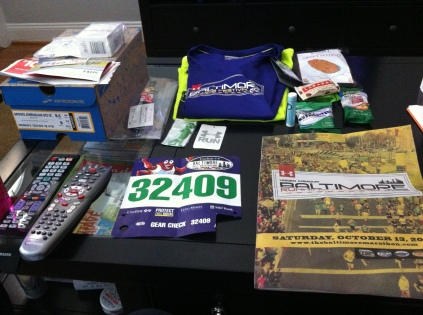 Baltimore Running Festival loot