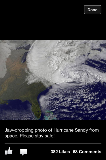 Hurricane Sandy from Space!