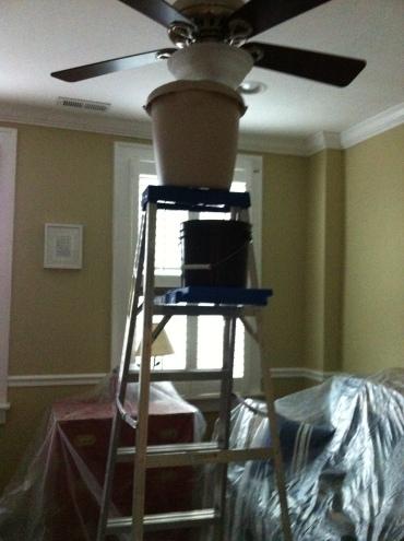 ceiling fan leak