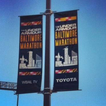 Baltimore Running Festival Sign