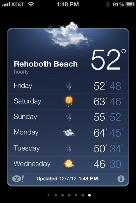 Weather Check for Rehoboth Half Marathon 2012
