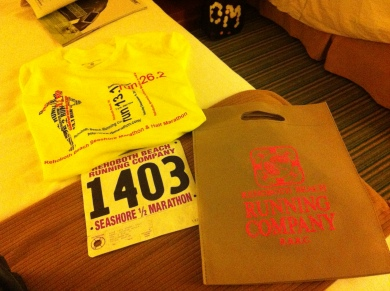 Rehoboth Half Marathon 2012 Swag Bag