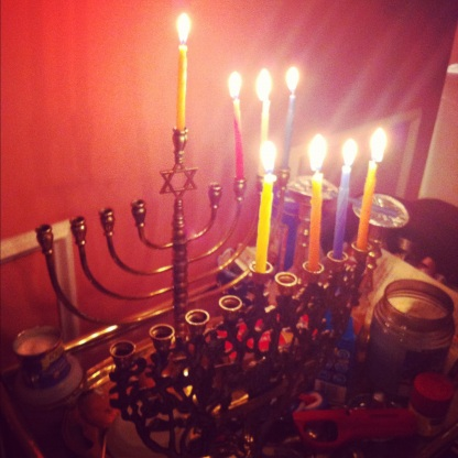Two menorahs... That's how maryland does chanukah