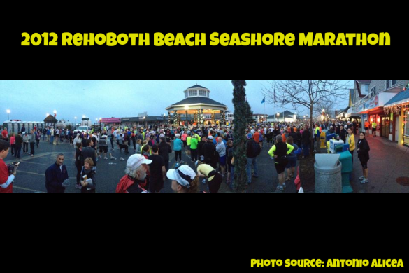 View of the start, via the Rehoboth Seashore Marathon's Facebook page